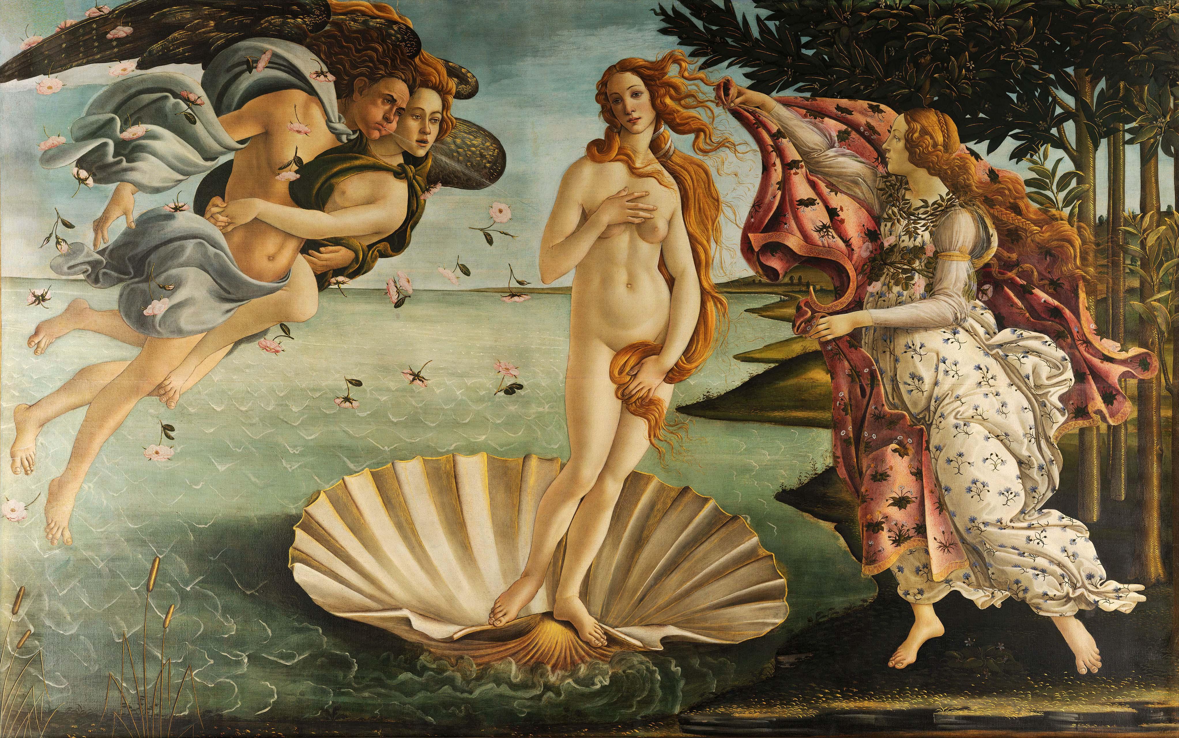 De Geboorte van Venus door Sandro Botticelli, ca. 1484-85
