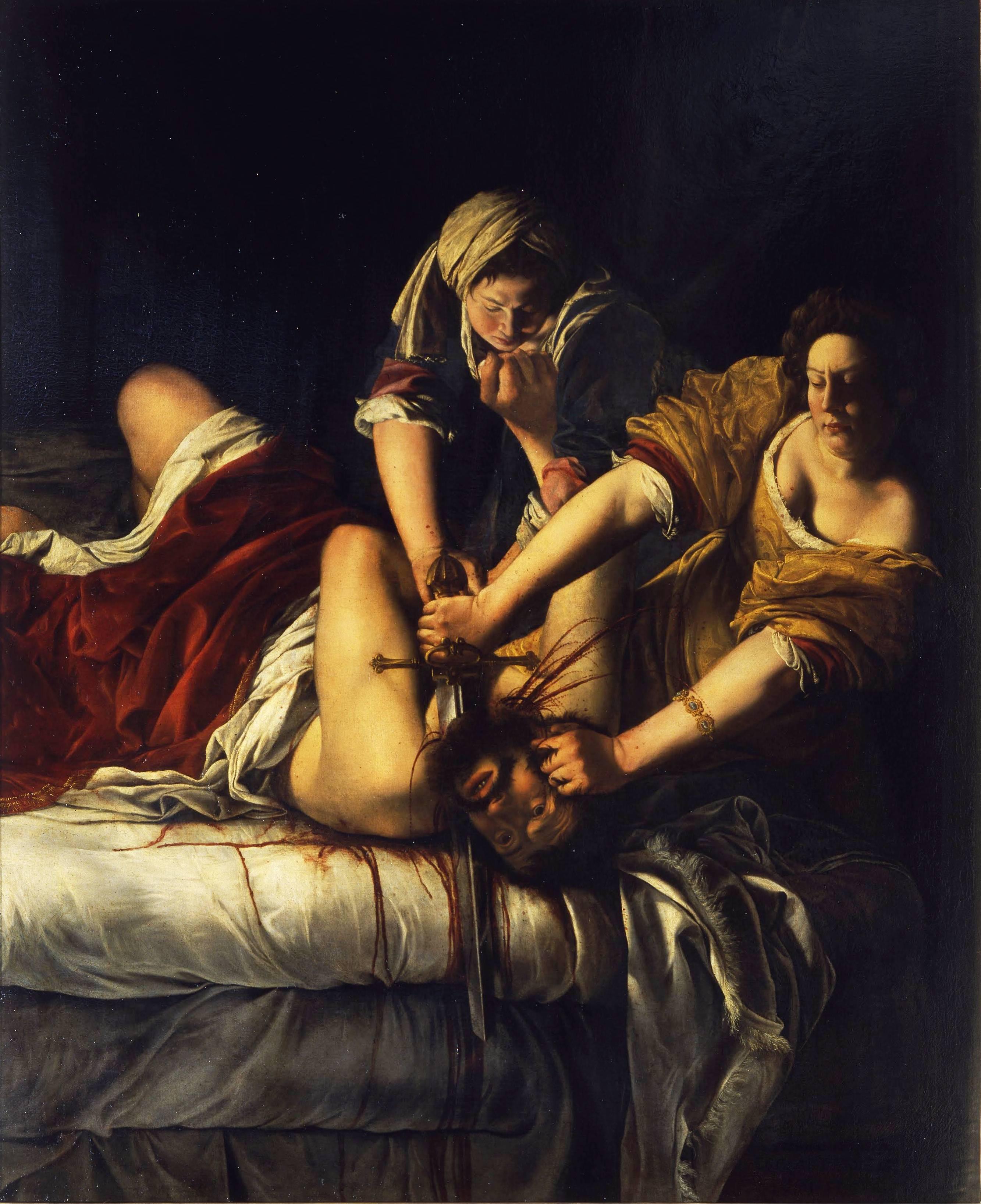 Judith en Holofernes door Artemisia Gentileschi, circa 1620