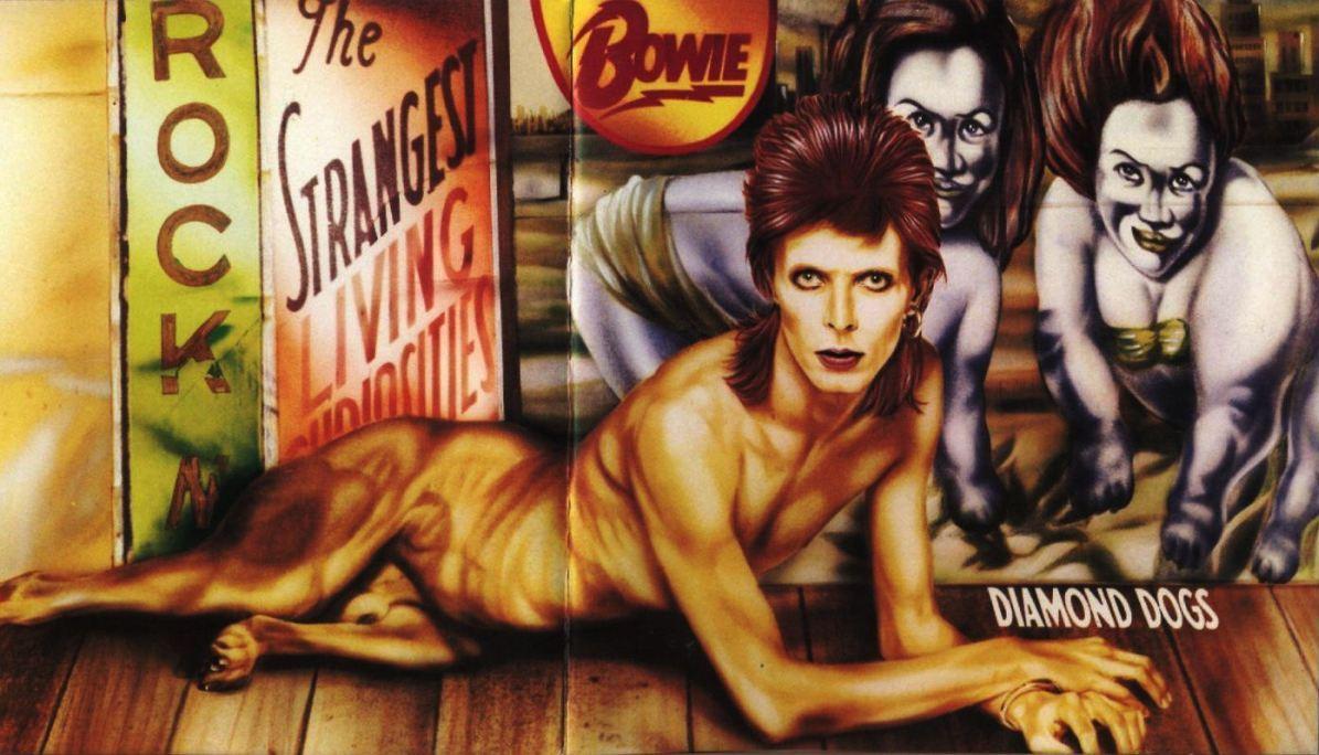 Diamond Dogs van David Bowie door Guy Peellaert voor RCA Records, 1974